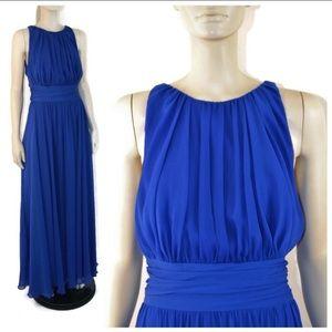 Badgley Mischka Blue Chiffon Corundum Gown 10